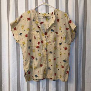 Vintage floral body button up